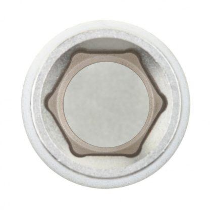 Головка торцевая, 16 мм, шестигранная, CrV, под квадрат 1/2, хромированная Matrix Master