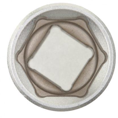 Головка торцевая, 22 мм, шестигранная, CrV, под квадрат 1/2, хромированная Matrix Master