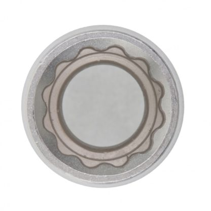 Головка торцевая, 13 мм, двенадцатигранная, CrV, под квадрат 1/2, хромированная Matrix Master