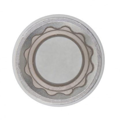 Головка торцевая, 17 мм, двенадцатигранная, CrV, под квадрат 1/2, хромированная Matrix Master