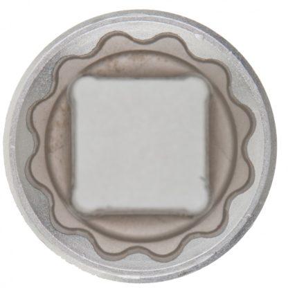 Головка торцевая, 19 мм, двенадцатигранная, CrV, под квадрат 1/2, хромированная Matrix Master