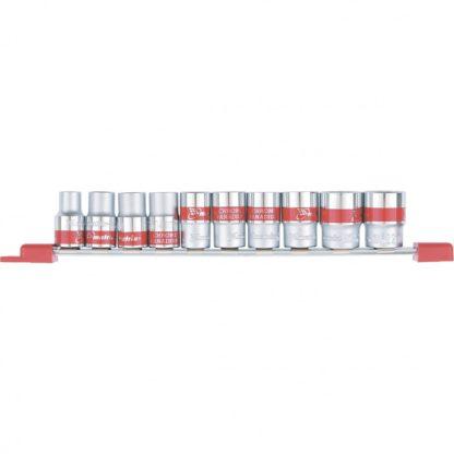 Набор универсальных торцевых головок 1/2, SpLine, CrV, 10 шт., 10-22 мм Matrix