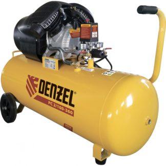 Компрессор воздушный Denzel PC 2/100-360, 2,3 кВт, 360 л/мин, 100 л, 10 бар