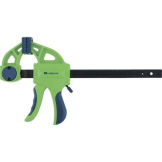 Струбцина F-образная, быстрозажимная, 200 х 70 х 420 мм, пластиковый корпус, фиксатор, двухкомпонентная рукоятка Сибртех
