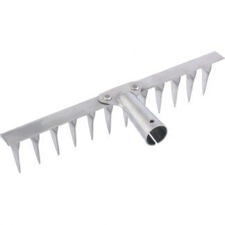 Грабли, нержавеющая сталь, 290 мм, 12 витых зубьев, без черенка, Россия Сибртех