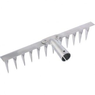 Грабли, нержавеющая сталь, 340 мм, 14 витых зубьев, без черенка, Россия Сибртех