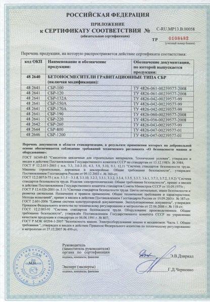 Бетоносмеситель СБР-120, 120 л, 0,7 кВт, 220 В