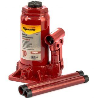 Домкрат гидравлический бутылочный 10 т, h подъема 190-370 мм Sparta Compact