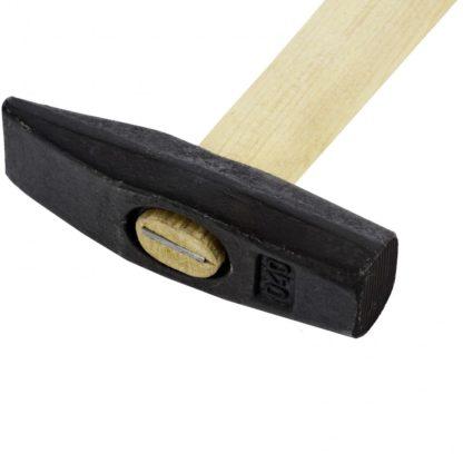Молоток слесарный, 400 г, квадратный боек, деревянная рукоятка Россия