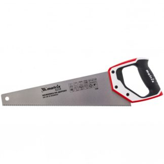 Ножовка по дереву, 400 мм, каленый зуб 3D, 7-8 TPI, трехкомпонентная рукоятка, Pro Matrix