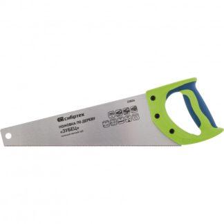 """Ножовка по дереву""""Зубец"""" для точных пильных работ, 350 мм, каленый зуб 2D, 14 TPI, двухкомпонентная рукоятка Сибртех"""