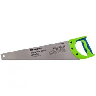 """Ножовка по дереву""""Зубец"""" для точных пильных работ, 450 мм, каленый зуб 2D, 14 TPI, двухкомпонентная рукоятка Сибртех"""