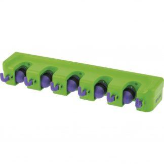 Пластиковый настенный держатель для садово-огородного инструмента, 5 ячеек, 6 крюков Palisad