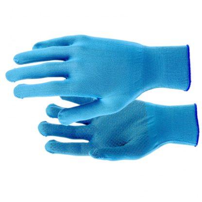 Перчатки Нейлон, ПВХ точка, 13 класс, цвет ультрамарин, XL Россия