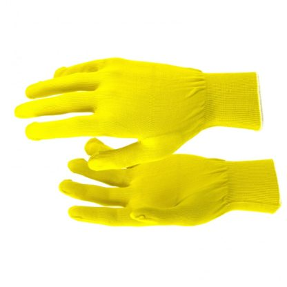 Перчатки Нейлон, 13 класс, цвет лимон, L Россия