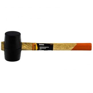 Киянка резиновая, 225 г, черная резина, деревянная рукоятка Sparta