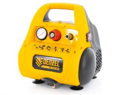 Компрессор воздушный безмасляный Denzel РС 1/6-180,1, 1 кВт, 180 л/мин, 6 л