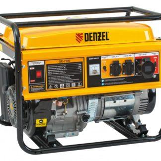 Генератор бензиновый Denzel GE 7900, 6.5 кВт, 220 В/50 Гц, 25 л, ручной пуск