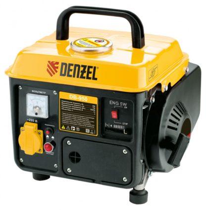 Генератор бензиновый Denzel DB950, 0.85 кВт, 220 В/50 Гц, 4 л, ручной пуск
