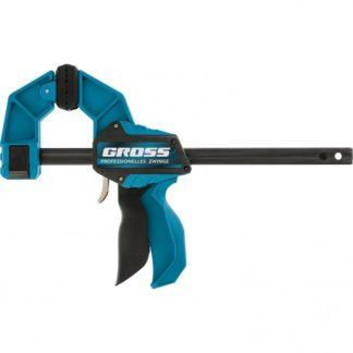 Струбцина реечная, быстрозажимная, пистолетного типа, пошаговый механизм, пластиковый корпус, 300 мм Gross