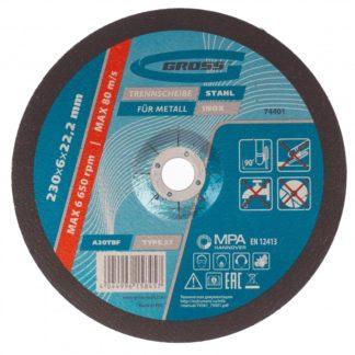 Круг шлифовальный по металлу, 230 х 6,0 х 22,2 мм Gross