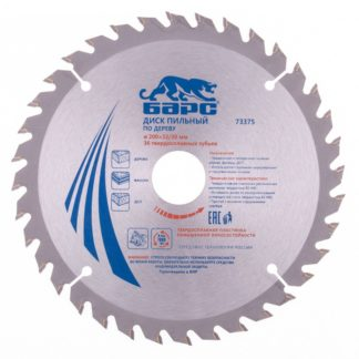 Пильный диск по дереву 200 x 32/30 мм, 36 твердосплавных зуба Барс