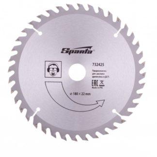 Пильный диск по дереву, 180 х 22 мм, 40 зубьев Sparta