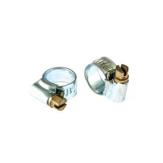 Хомуты металлические, червячные 8-12 мм, ширина 10 мм, английский тип, W1, 2 шт Сибртех