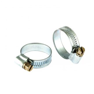 Хомуты металлические, червячные 19-29 мм, ширина 12 мм, английский тип, W1, 2 шт Сибртех