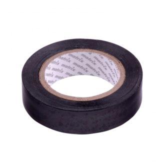 Изолента ПВХ, 19 мм х 20 м, черная, 150 мкм Matrix