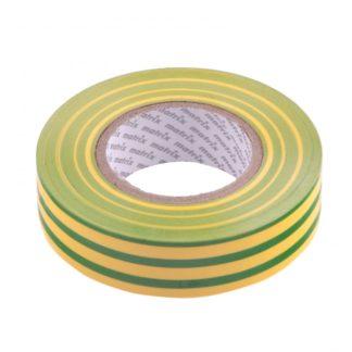 Изолента ПВХ, 19 мм х 20 м, желто-зеленая, 150 мкм Matrix