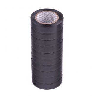 Набор изолент ПВХ 15 мм х 10 м, черная, в упаковке 10 шт, 150 мкм Matrix