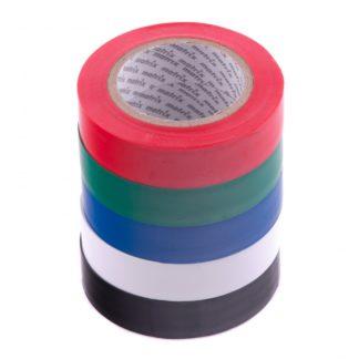 Набор изолент ПВХ цветных 15 мм х 10 м, в упаковке 5 шт, 150 мкм Matrix