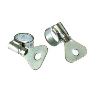 Хомуты металлические, червячные 10-16 мм, ширина 10 мм, W1, с металлическим ключом, 2 шт Сибртех