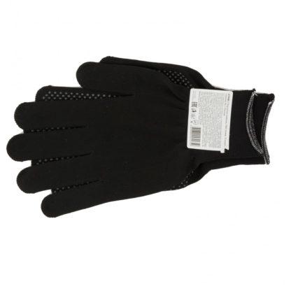 Перчатки Нейлон, ПВХ точка, 13 класс, черные, XL Россия