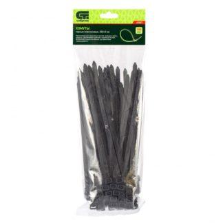 Хомуты, 200 х 8 мм, пластиковые, черные, 100 шт Сибртех