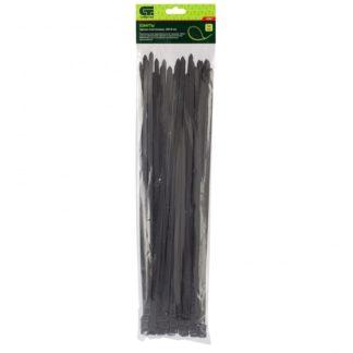 Хомуты, 400 х 8 мм, пластиковые, черные, 50 шт Сибртех