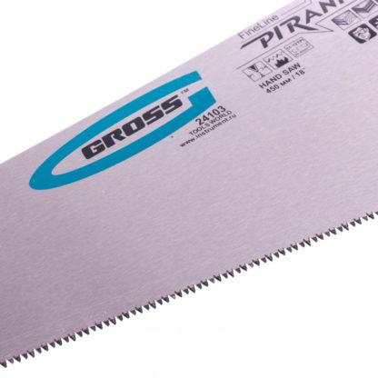 "Ножовка по дереву ""Piranha"", 450 мм, 11-12 TPI, зуб-3D, каленый зуб, двухкомпонентная рукоятка Gross"