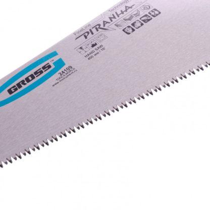 "Ножовка по дереву ""Piranha"", 400 мм, 7-8 TPI, зуб-3D, каленый зуб, двухкомпонентная рукоятка Gross"