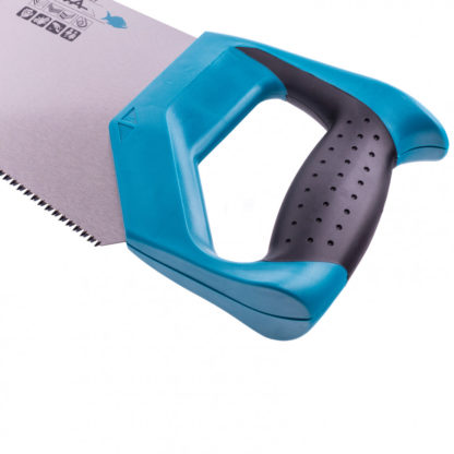 "Ножовка по дереву ""Piranha"", 500 мм, 11-12 TPI, зуб-3D, каленый зуб, двухкомпонентная рукоятка Gross"