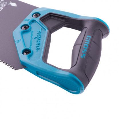 """Ножовка по дереву """"Piranha"""", 450 мм, 11-12 TPI, зуб-3D, каленый зуб, тефлоновое покрытие полотна, двухкомпонентная рукоятка Gross"""