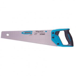 "Ножовка по дереву ""Piranha"", 400 мм, 11-12 TPI, зуб-3D, каленый зуб, двухкомпонентная рукоятка Gross"