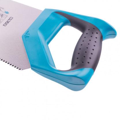 Ножовка по дереву Piranha, усиленное трапецевидное полотно, 500 мм, 11-12 TPI, зуб3D, каленый зуб, двухкомпонентная рукоятка Gross