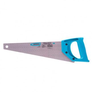 """Ножовка для работы с ламинатом """"Piranha"""", 360 мм, 15-16 TPI, зуб 2D, каленый зуб, пласт.рук-ка Gross"""