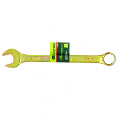 Ключ комбинированный, 19 мм, желтый цинк Сибртех
