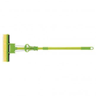 Швабра отжимная 115 см, губка PVA 27 x 5,5 x 6 см, телескопическая рукоятка, зеленая Elfe