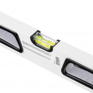 Уровень алюминиевый, 600 мм, усиленный, рукоятки, фрезерованный, 3 глазка, магнитный Gross