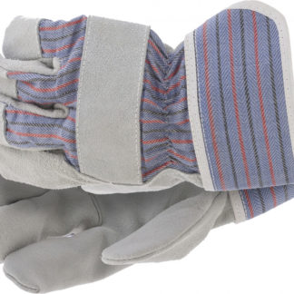 Перчатки спилковые комбинированные, размер XL Сибртех