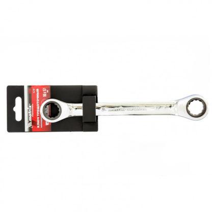 Ключ накидной трещоточный, 16 х 17 мм, CrV, зеркальный хром Matrix Professional