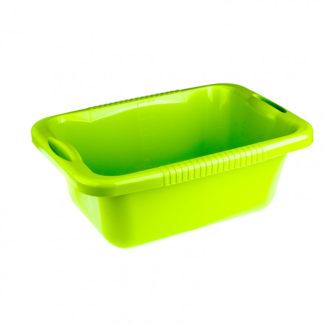 Таз пластмассовый прямоугольный 25 л, зеленый, Россия Elfe